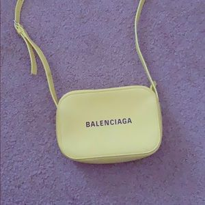Yellow Balenciaga Purse